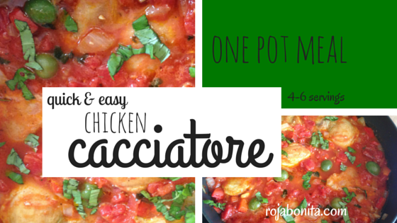 quick & easy Chicken Cacciatore | One Pot Meal